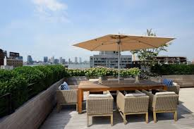 Patio Furniture Nyc by Warehouse Penthouse Loft Blends Modern New York With Old Time