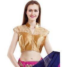 blouse band buy redesign band collar s golden blouse looksgud in