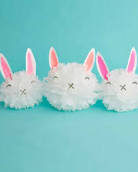 easter rabbits decorations how to make easter bunny pom pom decorations martha stewart
