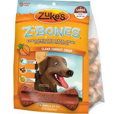zukes z bones edible dental chews large clean carrot crunch 6 ct