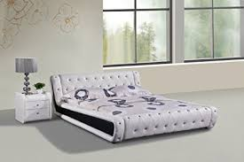 Tufted Platform Bed Amazon Com Container Direct Dorian Collection Faux Leather