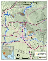 Continental Divide Map Where We Raft Arizona State River Map Wilderness Awaresalt