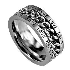 rings of men rings chain ring youth exle 1 timothy 4 12 steel christian