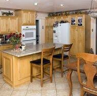 Light Wood Kitchen Cabinets by Traditional Light Wood Kitchen Cabinets With White Appliances
