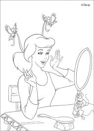 cinderella mirror coloring pages hellokids