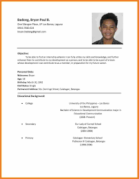 the resume format resume format application sop