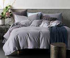 ceruleanhome 3pc duvet cover set 100 cotton bedding set solid