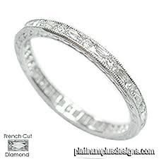wedding band manufacturers 544b 103 vintage inspired cut baguette diamond platinum