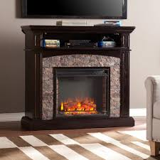 rustic electric media fireplace u2014 home ideas collection ideas