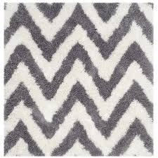 Square Area Rugs 5x5 Safavieh Milan Shag Gray 7 Ft X 7 Ft Square Area Rug Sg180 8080