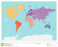 Antarctica On World Map by Political Map Of World With Antarctica Continents In Different