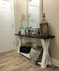 Unique Entryway Tables Rustic Farmhouse Entryway Table By Modernrefinement On Etsy
