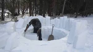 how to build an igloo by yourself youtube