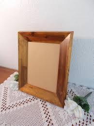 vintage wide solid wood 8 x 10 picture frame photo decoration mid