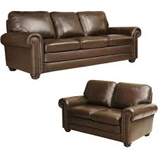 Sofa Outlet Store Abbyson Living Bradford Top Grain Leather Sofa And Loveseat