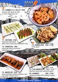 cuisine mar menu catalan cuisine barcelona gaudí restaurant