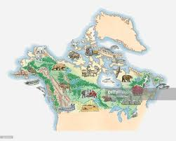 Northern Canada Map by Illustrated Map Of Northern America Including Canada And Alaska