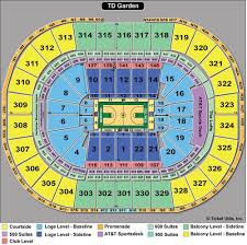 Td Garden Layout Td Garden Seating Boston Bruins Celtics Seating Charts Tickpick