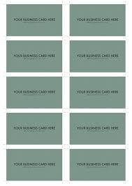 a4 business card template psd 10 per sheet dr design resources