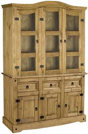 furniture corona pine buffet hutch with 3 drawers for home