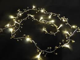 christmas garland battery operated led lights 6ft 1 8m light up gold berry twig christmas garland indoor outdoor
