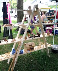 make your own ladder shelf for your craft show display portable