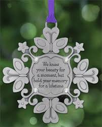 infant loss ornament snowflake ornament to remember miscarriage or child loss
