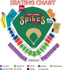 Penn State Parking Map Ballpark Seating Chart State College Spikes Medlar Field At