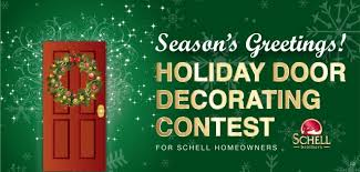 Holiday Door Decorating Contest for Schell Homeowners Schell