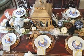 thanksgiving table setting ideas thanksgiving table setting ideas using blue and white decor