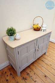 laura ashley dark dove grey painted ercol sideboard cupboard our