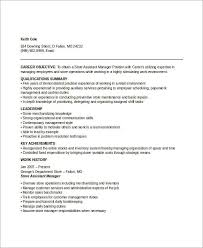 Retail Store Manager Resume Example by Assistant Manager Resumes Assistant Manager Sample 54 Manager