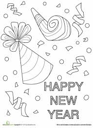 happy new year preschool coloring pages new year confetti coloring page worksheets january and activities