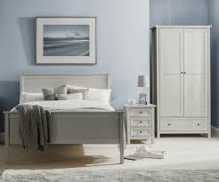 Maine Bedroom Furniture Julian Bowen Maine Dove Grey Bed Frame Bedsdirectuk Net