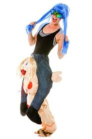 Piggyback Halloween Costume Inflatable Stripper Costume Pinkeye Piggyback Costume