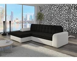 canapé d angle blanc et noir canapé d angle convertible noir urbantrott com