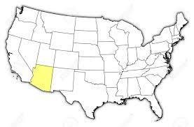 map of the united states with arizona highlighted glendale arizona us map 13951072 political map of united states