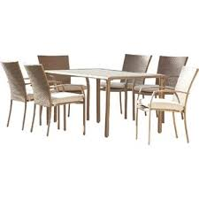 7 Pc Patio Dining Set Modern Outdoor Dining Sets Allmodern