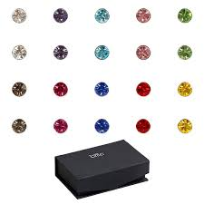 boy earrings bmc 10pc multicolor sparkling fashion