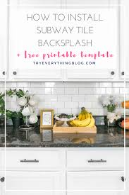 how to install a subway tile backsplash free subway tile