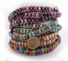 wrap bracelet tutorials images Superduo chain wrap bracelet tutorial by carole ohl by openseed jpg