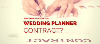 wedding planner contracts q what should my wedding planner contract include wfal387