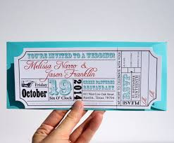 ticket wedding invitations ticket wedding invitation