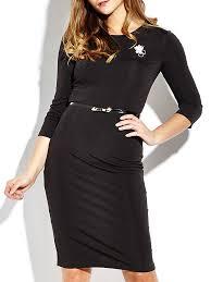 ol belt brooch black 3 4 sleeve tunic work party elegant women