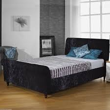 Sleigh Bed Frame Hf4you Crushed Velvet Upholstered Sleigh Bed Fast Delivery