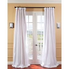 White Faux Silk Curtains Exclusive Fabrics Patterned Faux Silk 108 Inch Curtain Panel
