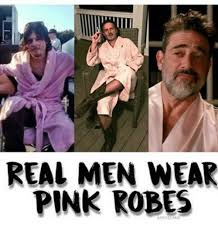 Real Men Wear Pink Meme - real men wear pink robes meme on me me