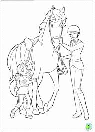 barbie horse colouring pages coloring