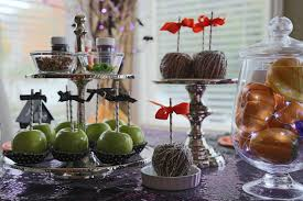 halloween candy apple sticks decorated mantel lacy caramel apples creative paper sticks