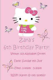 personalised hello kitty invitations